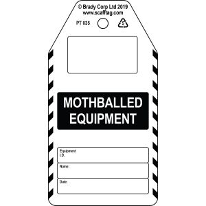Mothballed Equipment tag