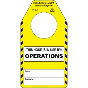 Hose (operations) tag