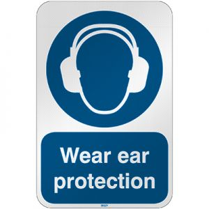 ISO Safety Sign - Wear ear protection