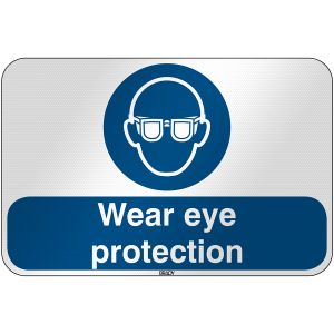 ISO Safety Sign - Wear eye protection