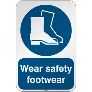 ISO Safety Sign - Wear safety footwear