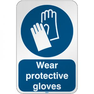 ISO Safety Sign - Wear protective gloves