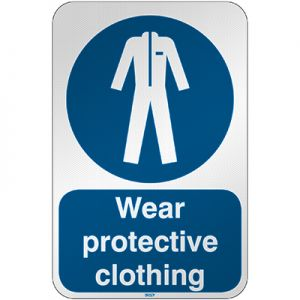 ISO Safety Sign - Wear protective clothing