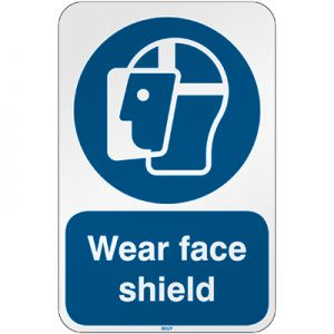 ISO Safety Sign - Wear face shield