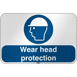 ISO Safety Sign - Wear head protection