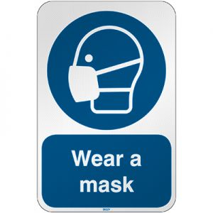 ISO Safety Sign - Wear a mask