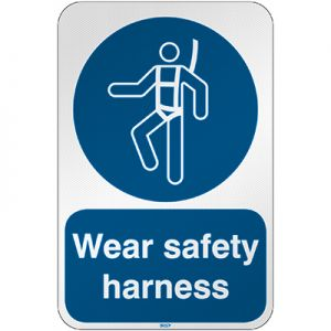 ISO Safety Sign - Wear safety harness