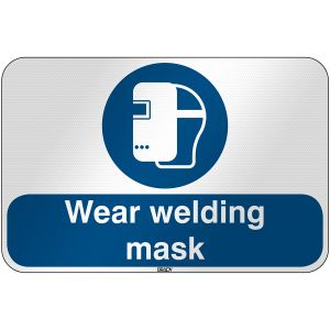 ISO Safety Sign - Wear welding mask