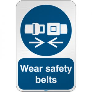 ISO Safety Sign - Wear safety belts
