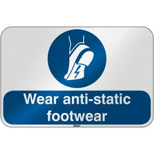ISO Safety Sign - Wear anti-static footwear