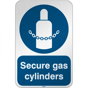 ISO Safety Sign - Secure gas cylinders