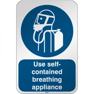 ISO Safety Sign - Use self-contained breathing appliance