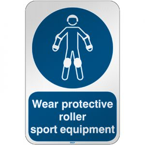 ISO Safety Sign - Wear protective roller sport equipment
