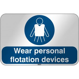 ISO Safety Sign - Wear personal flotation devices