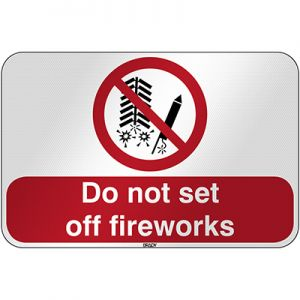 ISO Safety Sign - Do not set off fireworks