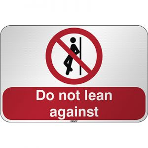 ISO Safety Sign - No leaning against