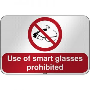 ISO Safety Sign - Use of smart glasses prohibited