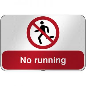 ISO Safety Sign - No running