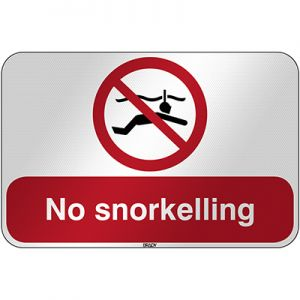 ISO Safety Sign - No snorkelling
