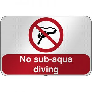 ISO Safety Sign - No sub-aqua diving