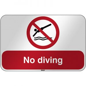ISO Safety Sign - No diving
