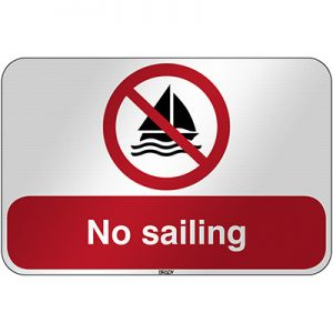 ISO Safety Sign - No sailing