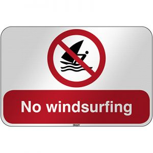 ISO Safety Sign - No windsurfing