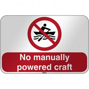 ISO Safety Sign - No manually powered craft