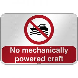 ISO Safety Sign - No mechanically powered craft