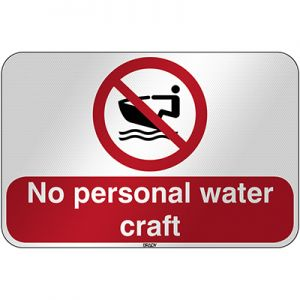 ISO Safety Sign - No personal water craft