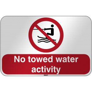 ISO Safety Sign - No towed water activity