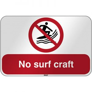 ISO Safety Sign - No surf craft