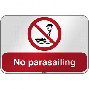 ISO Safety Sign - No parasailing