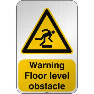 ISO Safety Sign Warning Floor level obstacle