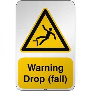 ISO Safety Sign Warning Drop (fall)