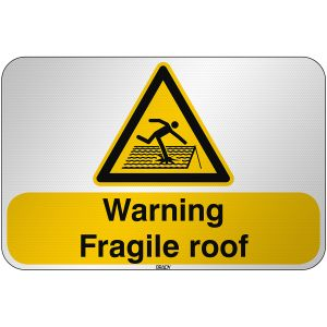 ISO Safety Sign Warning Fragile roof