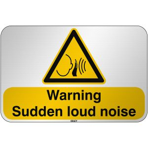 ISO Safety Sign Warning Sudden loud noise