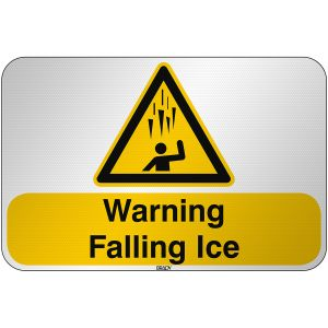 ISO Safety Sign Warning Falling ice