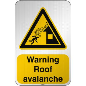 ISO Safety Sign Warning Roof avalanche