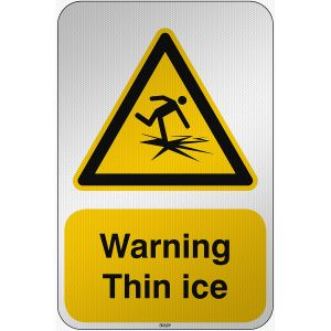 ISO Safety Sign Warning Thin ice