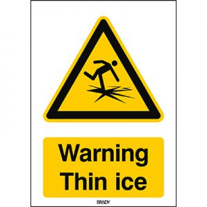 ISO Safety Sign - Warning Thin ice