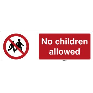 ISO Safety Sign - No children allowed