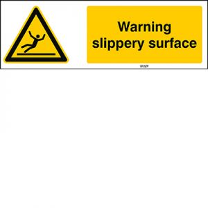 ISO 7010 Sign - Warning; slippery surface