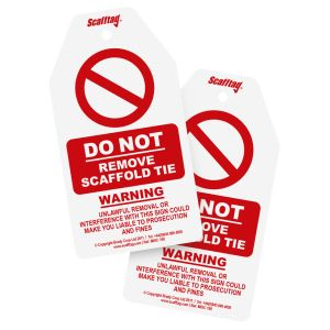 Structural Tie Warning Tags