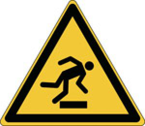 Warning; Floor level obstacle - ISO 7010