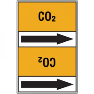 Roll form linerless Pipe Markers, with pictograms - Gas