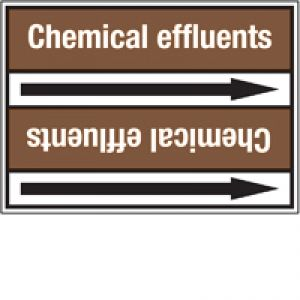 Roll form linerless Pipe Markers, without pictograms - Flammable/Non-Flammable Liquids/Oils