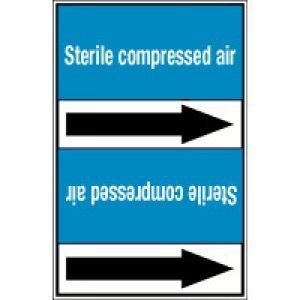 Roll form linerless Pipe Markers, without pictograms - Air