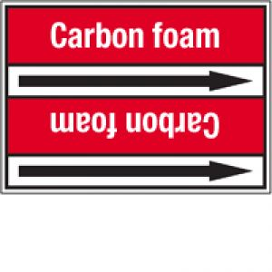 Roll form linerless Pipe Markers, without pictograms - Fire Fighting