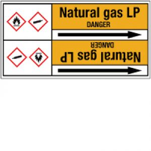 Roll form Pipe Markers with liner, without pictograms - Gas